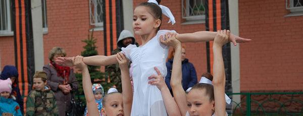 """Гимнастки """"А. Завьялова"""" поздравили ветеранов танцем"""