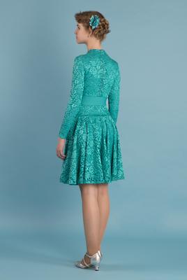 Р 7.2 Платье спортивное для девочек (фото, Бирюзовый)