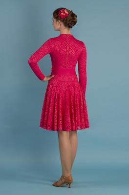 Р 7.2 Платье спортивное для девочек (фото, Красный)