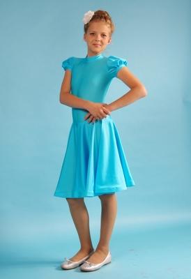 Р 4.2 Платье спортивное для девочек (фото, Бирюзовый)