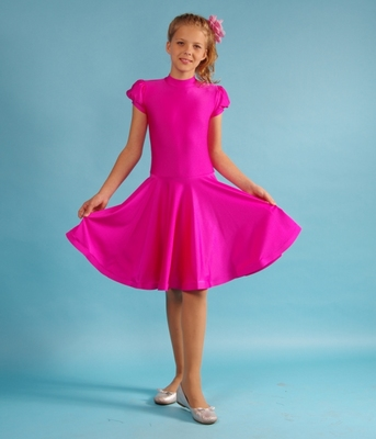 Р 4.2 Платье спортивное для девочек (фото, Малиновый)
