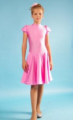 Р 4.2 Платье спортивное для девочек (фото, Розовый)