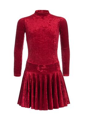 Р 2.8 Платье спортивное для девочек (фото, Бордовый)