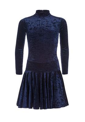 Р 2.8 Платье спортивное для девочек (фото, Темно-синий)
