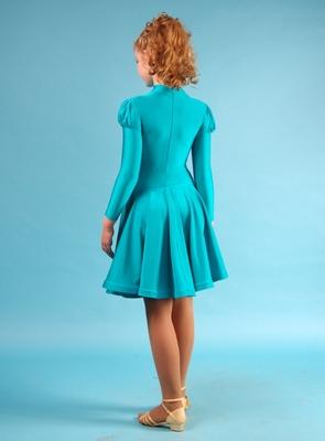 Р 4.1 Платье спортивное для девочек (фото, Бирюзовый)
