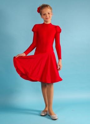 Р 4.1 Платье спортивное для девочек (фото, Красный)
