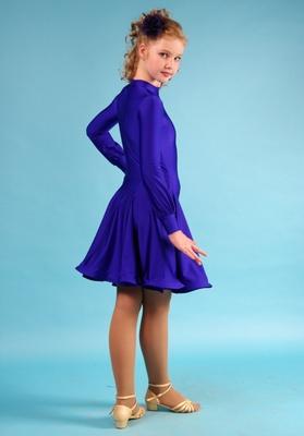Р 4.4 Платье рейтинговое для танцев (фото, Синий)