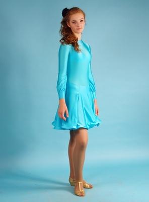 Р 4.4 Платье рейтинговое для танцев (фото, Бирюзовый)