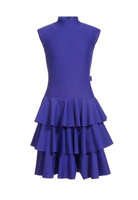 Р 4.5 Платье спортивное для девочек (фото, Синий)