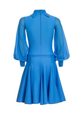 Р 4.6 Платье спортивное для девочек (фото, Голубой)