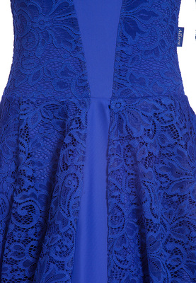 Р 7.1 Платье спортивное для девочек (фото, Синий)