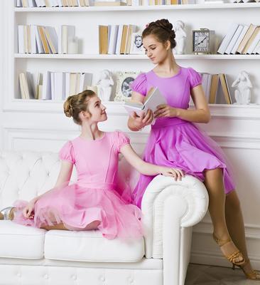 Р 8.2 Платье спортивное для девочек (фото, Розовый)