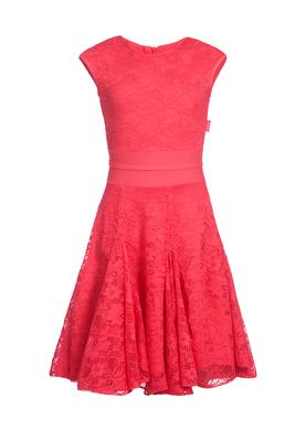 Р 8.3 Платье спортивное для девочек (фото, Красный)