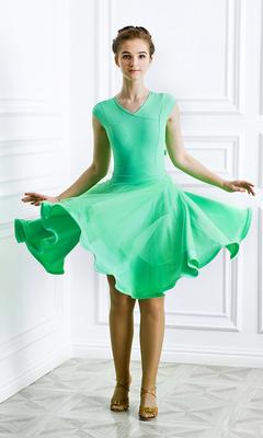 Р 8.6 Платье спортивное для девочек (фото, Салатный)