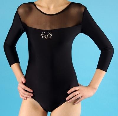 Г 2.05 Купальник гимнастический для девочек (фото, Черный)