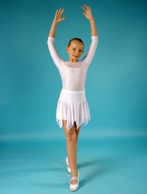 Г 2.05 Купальник гимнастический для девочек (фото, Белый)