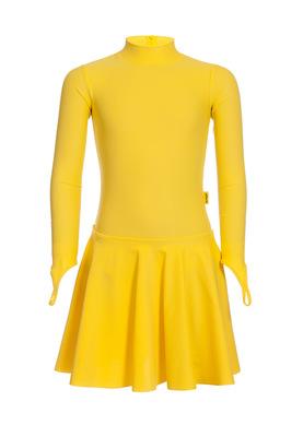 Р 2.71 Платье спортивное для девочек (фото, Желтый)