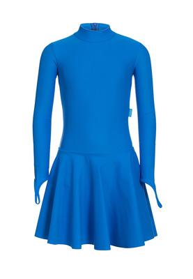 Р 2.71 Платье спортивное для девочек (фото, Голубой)