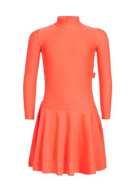 Р 2.91 Платье спортивное для девочек (фото, Оранжевый)