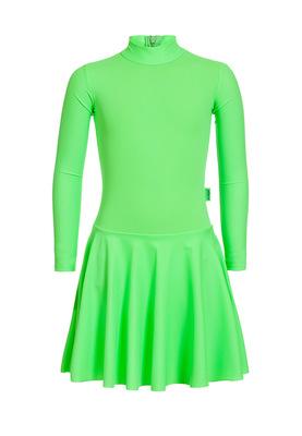 Р 2.91 Платье спортивное для девочек (фото, Салатный)