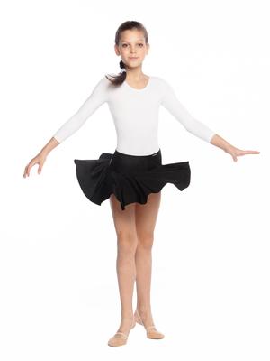 Ю 1.06 Юбка гимнастическая для девочек (фото, Черный)