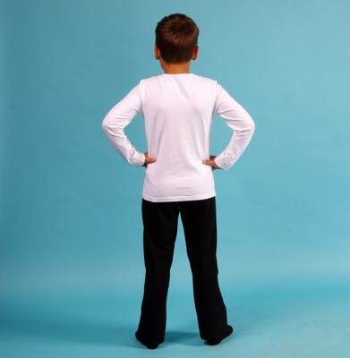 Б 9.03 Брюки гимнастические для мальчиков (фото, Черный)