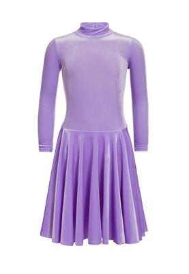 Р 3.81 Платье спортивное для девочек (фото, Сиреневый)