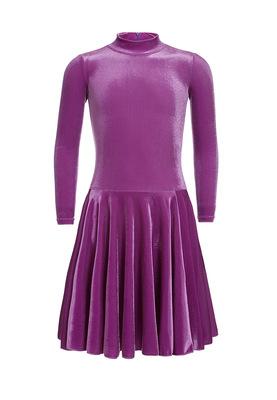 Р 3.81 Платье спортивное для девочек (фото, Фиолетовый)