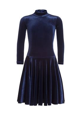 Р 3.81 Платье спортивное для девочек (фото, Темно-синий)