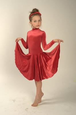 Р 3.81 Платье спортивное для девочек (фото, Красный)