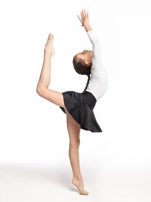 Ю 1.10 Юбка гимнастическая для девочек (фото, Черный)
