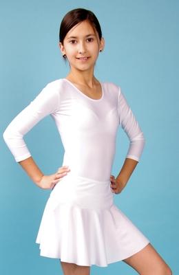 Ю 1.10 Юбка гимнастическая для девочек (фото, Белый)