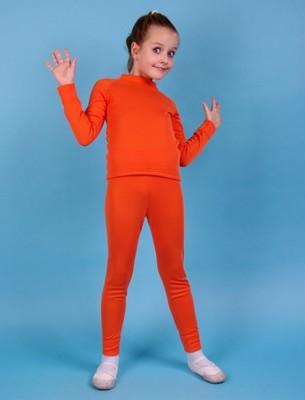 ТБд Трико для девочек (фото, Оранжевый)