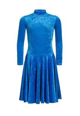 Р 3.8 Платье спортивное для девочек (фото, Голубой)