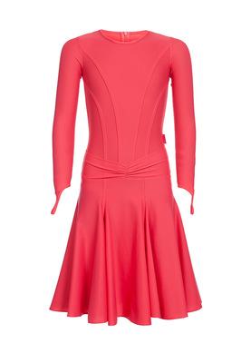 Р 4.8 Платье спортивное для девочек (фото, Красный)