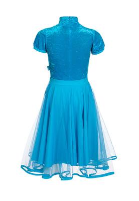 Р 10.3 Платье спортивное для девочек (фото, Голубой)