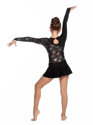 Г 2.10 Купальник гимнастический для девочек с юбкой (фото, Черный)