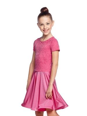 Р 7.3 Платье спортивное для девочек (фото, Красный)