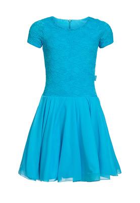 Р 7.3 Платье спортивное для девочек (фото, Голубой)
