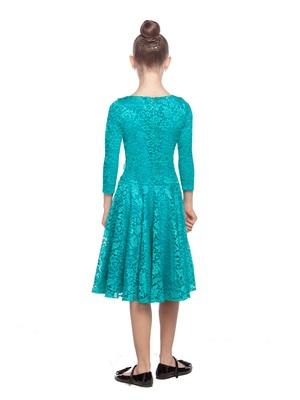 Р 8.4 Платье спортивное для девочек (фото, Бирюзовый)