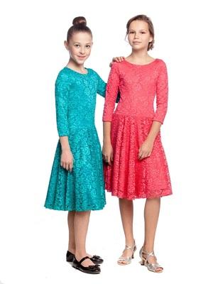 Р 8.4 Платье спортивное для девочек (фото, Красный)