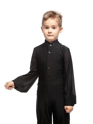 Р 1.05 Рубашка-боди для мальчиков (фото, Черный)