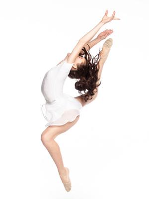 Ю 2.03 Юбка гимнастическая для девочек (фото, Белый)