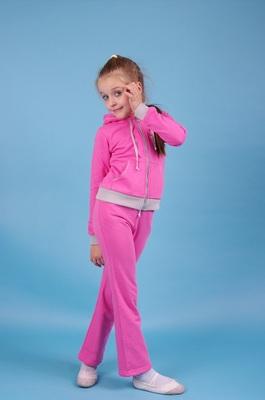 БСд 1 Брюки спортивные для девочек (фото, Розовый)
