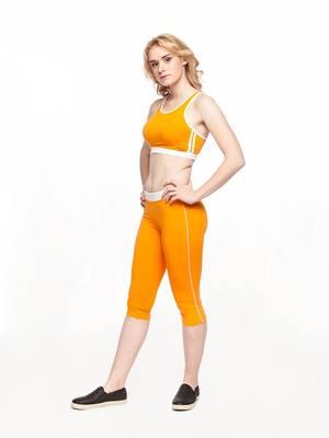 Б 5.3 Бриджи для девочек (фото, Оранжевый)