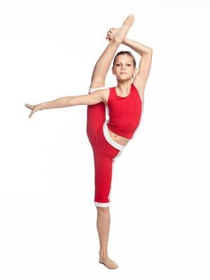 Б 8.3 Бриджи для девочек (фото, Красный)