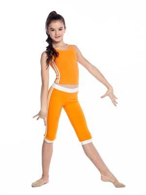 Б 8.3 Бриджи для девочек (фото, Оранжевый)