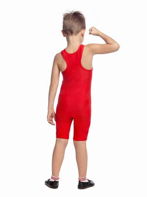 ГК 7.01 Комбинезон гимнастический (фото, Красный)