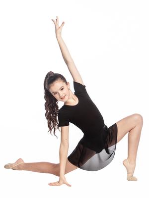 Ю 1.02 Юбка гимнастическая для девочек (фото, Черный)