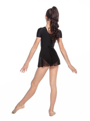 Ю 1.04 Юбка гимнастическая для девочек (фото, Черный)